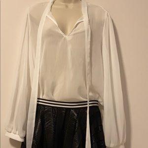 White see thru blouse